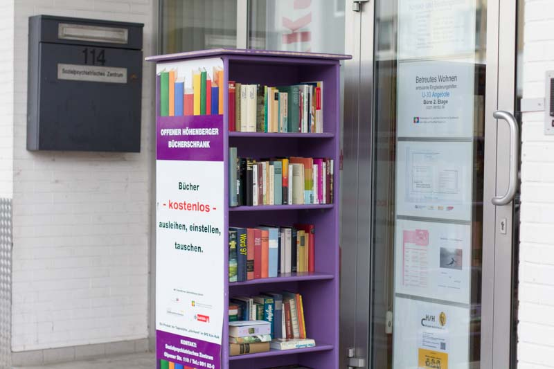Offener Bücherschrank – Sozialpsychiatrisches Zentrum Köln-Kalk